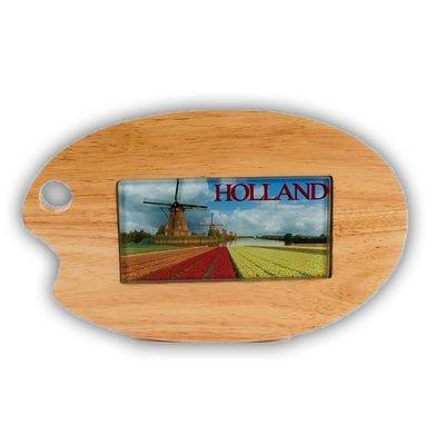 Typisch Hollands Kaasplank palet met  glastegel Holland
