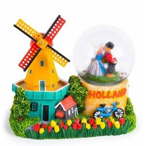 Typisch Hollands Schneeschütteln Globus Holland - Mühle