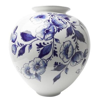 Bulb vase large with elegant flower decoration