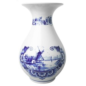 Delft blue belly vase - Dutch Mills