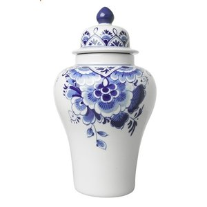 Delfter blauer Lid-Pul (Vase mit Deckel)