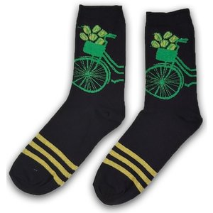 Holland sokken Men's socks with bicycle - yellow striped size 40-46