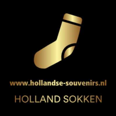 Holland sokken Damessokken  tulpen blauw /violet maat 35-41