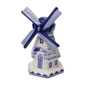 Heinen Delftware Delfts blauwe molen - Landschap decoratie -Groot