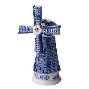 Typisch Hollands Delft blue stone mill - Holland 14 cm