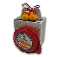 Typisch Hollands Cheese gift box - with wooden shoes - Natural