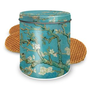 Stroopwafels (Typisch Hollands) Stroopwafels in a can - van Gogh - Blossom