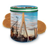 Stroopwafels (Typisch Hollands) Stroopwafels in a can - Rotterdam - skyline