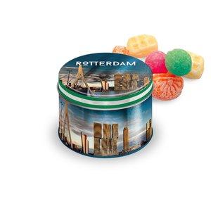 Typisch Hollands Snoepblik Rotterdam  - Gevuld met Snoepmix oud Hollands