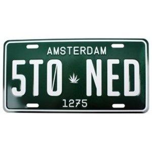 Typisch Hollands Amsterdamer Nummernschild 5to-ned