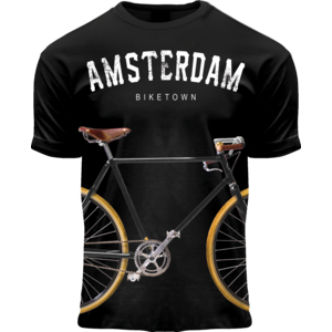 FOX Originals Children's T-Shirt - Bicycle - Black - Amsterdam biketown