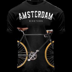 Holland fashion Kinder T-Shirt - Fiets - Zwart - Amsterdam biketown