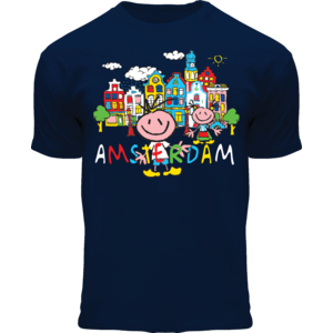 FOX Originals Kinder T-Shirt - Happy in Amsterdam - Blau