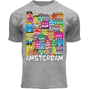 FOX Originals Kinder T-Shirt - Amsterdam - Facade houses