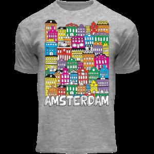 Holland fashion Kinder T-Shirt - Amsterdam - Facade houses