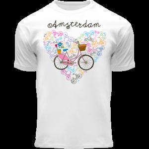 Holland fashion Kinder T-Shirt - Amsterdam - Fiets