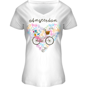 FOX Originals Ladies Shirt Amsterdam (BIKE) in heart shape