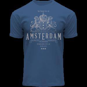 FOX Originals T-Shirt Blauw- wapen -Amsterdam
