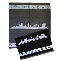 Typisch Hollands Kitchen textile set Rotterdam - skyline
