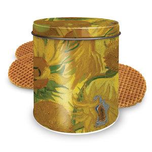 Stroopwafels (Typisch Hollands) Stroopwafels in blik - van Gogh - Zonnebloemen