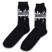 Typisch Hollands Socks Rotterdam - Black - White size 40-46