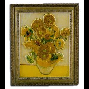 Typisch Hollands Magneet polystone Zonnebloemen - Vincent van Gogh