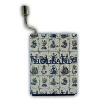 Typisch Hollands Music box - Delft blue - Debussy