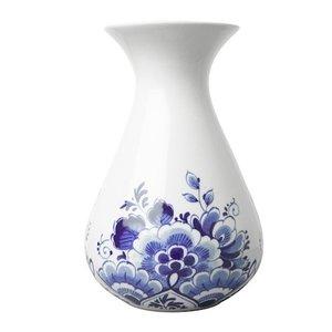 Delfts blauw vaasje bloemschildering  klein 14 cm