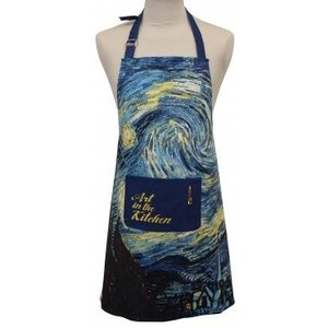 Memoriez Luxury kitchen apron - Starry sky - Vincent van Gogh