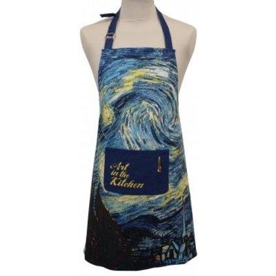 Memoriez Luxe keukenschort - Sterrennacht - Vincent van Gogh