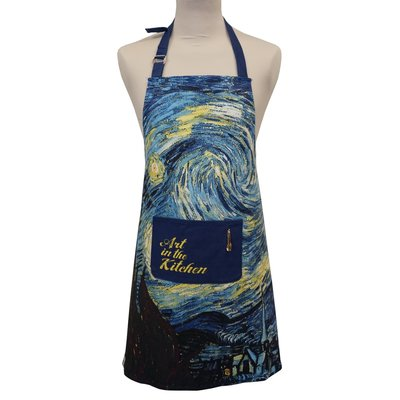 Memoriez Luxury kitchen apron - Starry Night - Vincent van Gogh