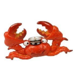 Typisch Hollands Fröhliche Krabbe mit Kapitänshut
