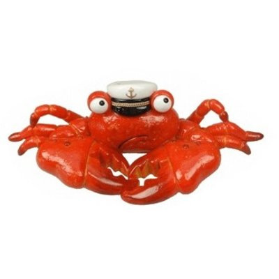 Typisch Hollands Cheerful crab with captain's hat