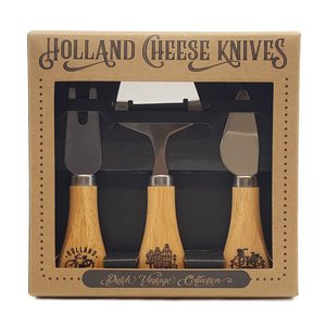 Typisch Hollands Kaasmesjes - in cadeauverpakking  (hout) Holland Amsterdam