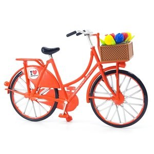 Typisch Hollands Miniaturfahrrad - Orange (Amsterdam) 13,5 cm