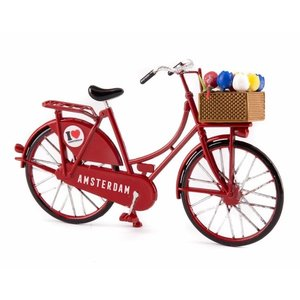 Typisch Hollands Miniature bike - Red (Amsterdam) 13.5 cm