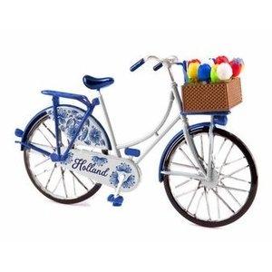 Typisch Hollands Miniaturfahrrad - Delft Blue (Holland) 13,5 cm