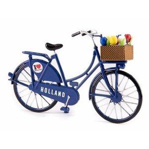 Typisch Hollands Miniatuurfiets - Blauw (Holland) 13.5cm