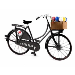 Typisch Hollands Miniature bike - Black (Amsterdam) 13.5 cm