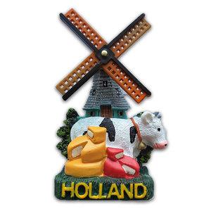 Typisch Hollands Magneet molen & koeien - kaas