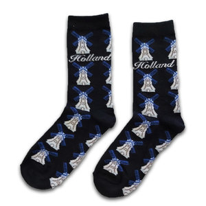 Holland sokken Damessokken - Molens blauw/wit