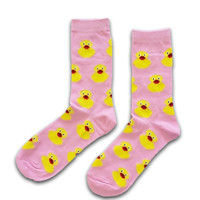 Holland sokken Women's socks - Rubber ducks - Pink