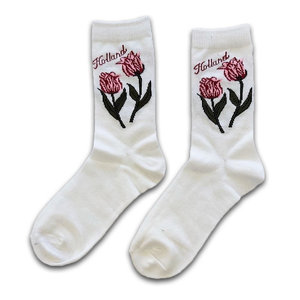 Holland sokken Women's socks - White - Holland - Tulips