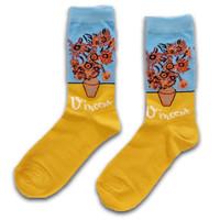Holland sokken Damensocken Vincent van Gogh Sonnenblumen