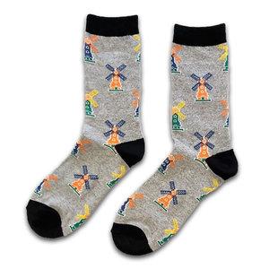 Holland sokken Frauensocken - Grau - Mühlen