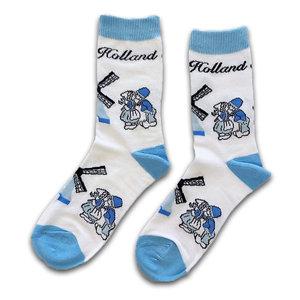 Holland sokken Damensocken - Holland blau / weiß - Kuspaar und Mills