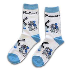 Holland sokken Damessokken - Holland blauw/wit - Kuspaar en Molens