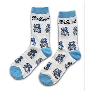 Holland sokken Damensocken - Holland blau / weiß -