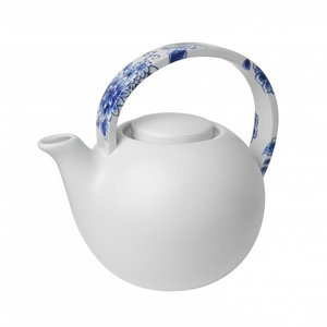 Heinen Delftware Theepot mat wit - Touch of Delfts