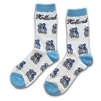 Holland sokken Herrensocken - Holland blau / weiß